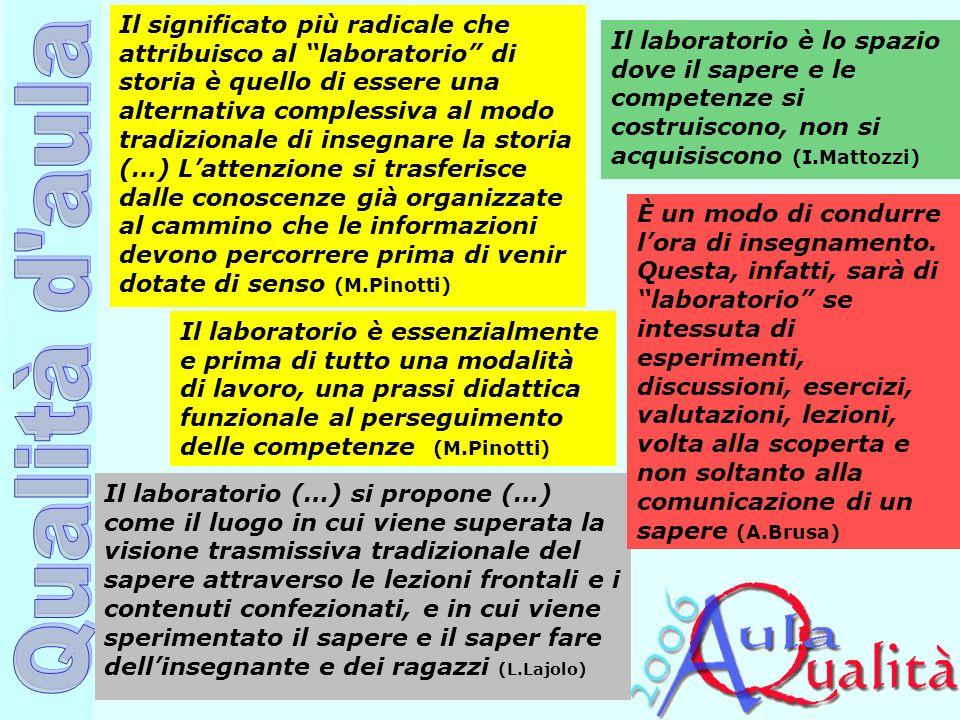 Ufficio Scolastico Regionale per la Campania Polo Qualità di Napoli Il laboratorio è essenzialmente e prima di tutto una modalità di lavoro, una prass