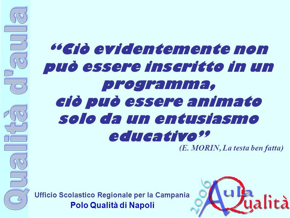 Ufficio Scolastico Regionale per la Campania Polo Qualità di Napoli Ciò evidentemente non può essere inscritto in un programma, ciò può essere animato