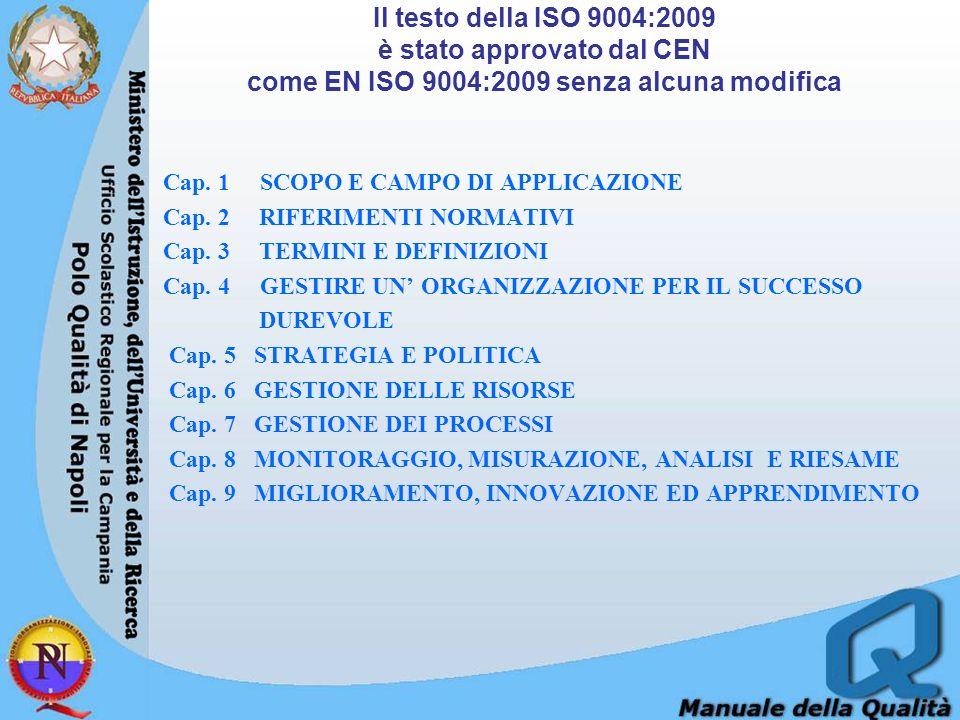 CAPITOLO 7 GESTIONE DEI PROCESSI 7.1 Generalità 7.2 Pianificazione e controllo dei processi 7.3 Responsabilità ed autorità relative ai processi