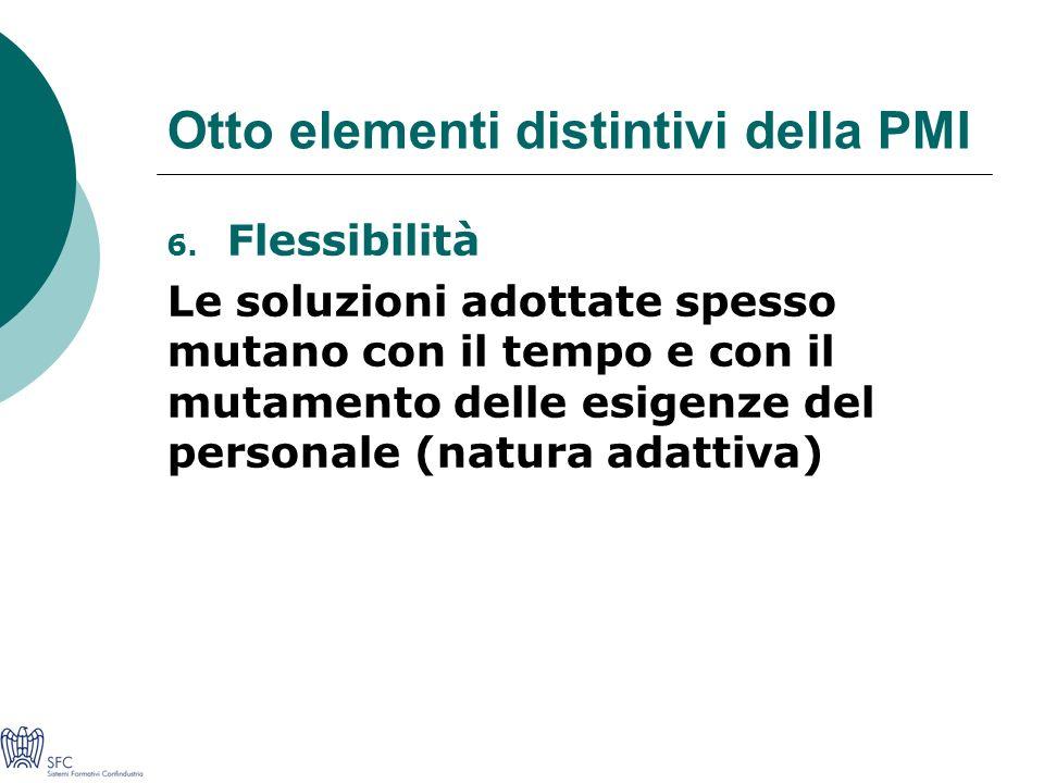 Otto elementi distintivi della PMI 6.