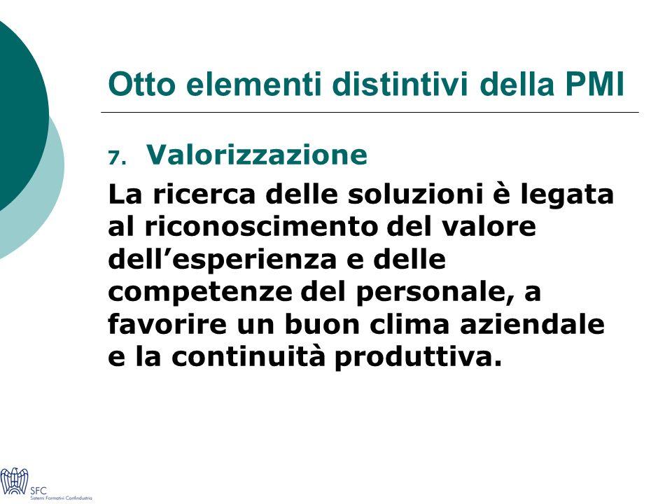 Otto elementi distintivi della PMI 7.