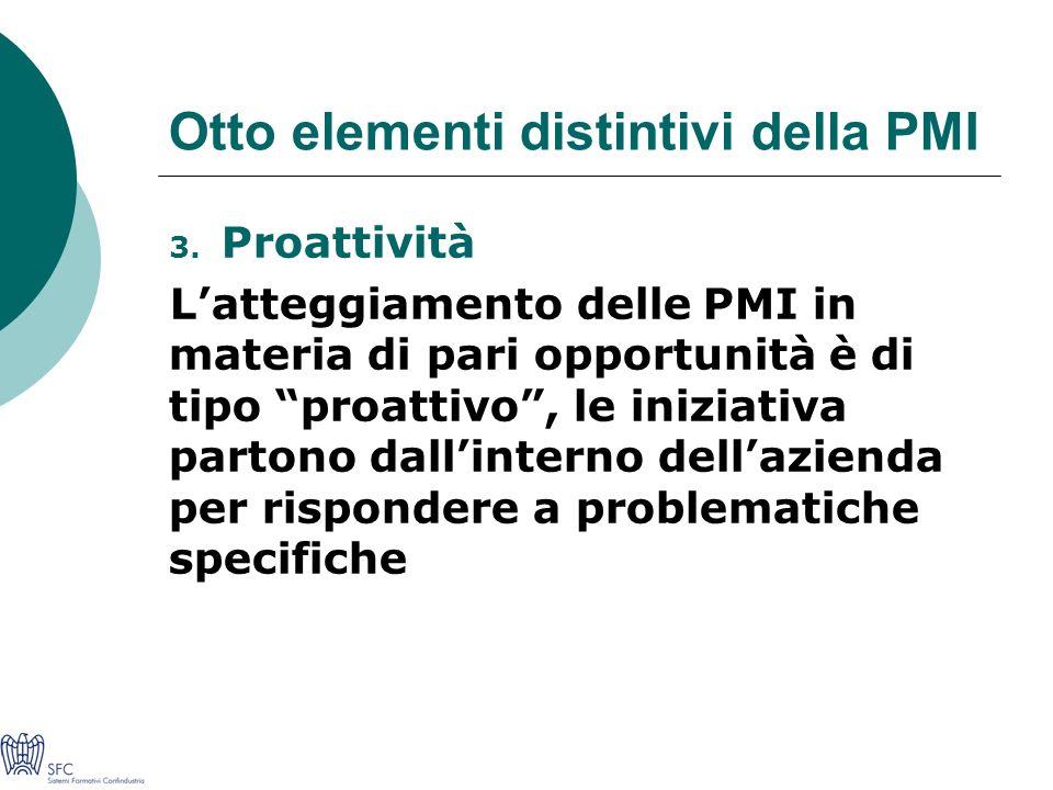 Otto elementi distintivi della PMI 3.