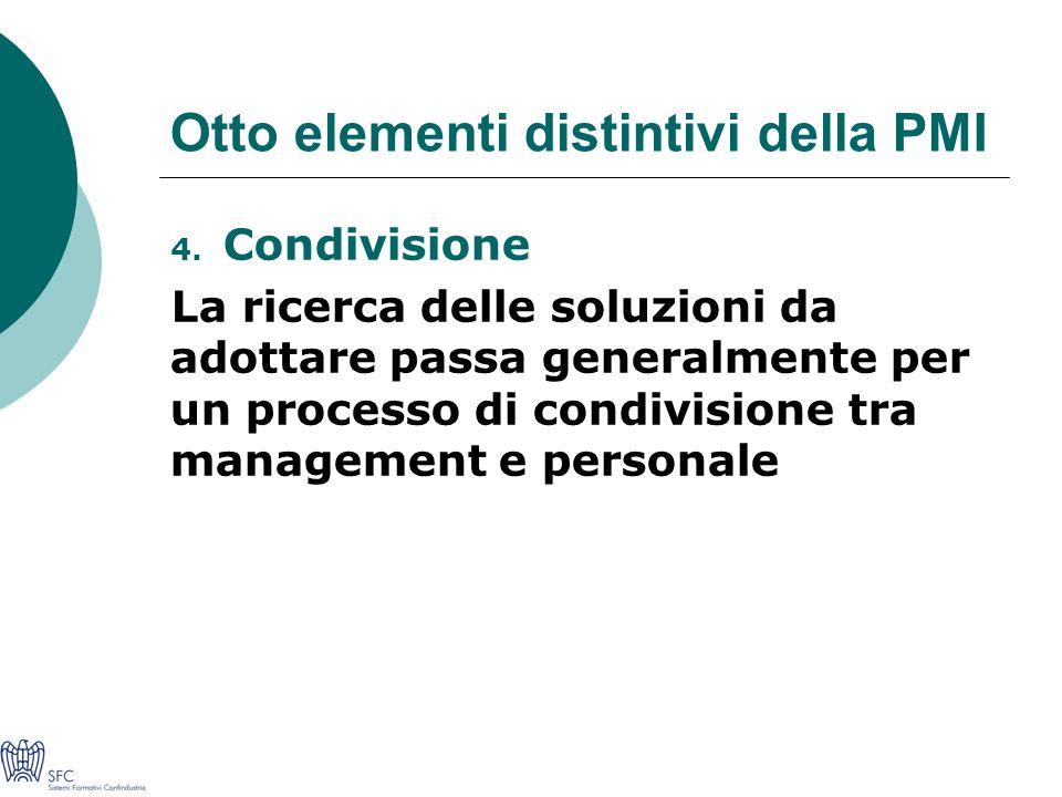 Otto elementi distintivi della PMI 4.