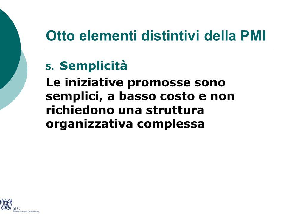Otto elementi distintivi della PMI 5.