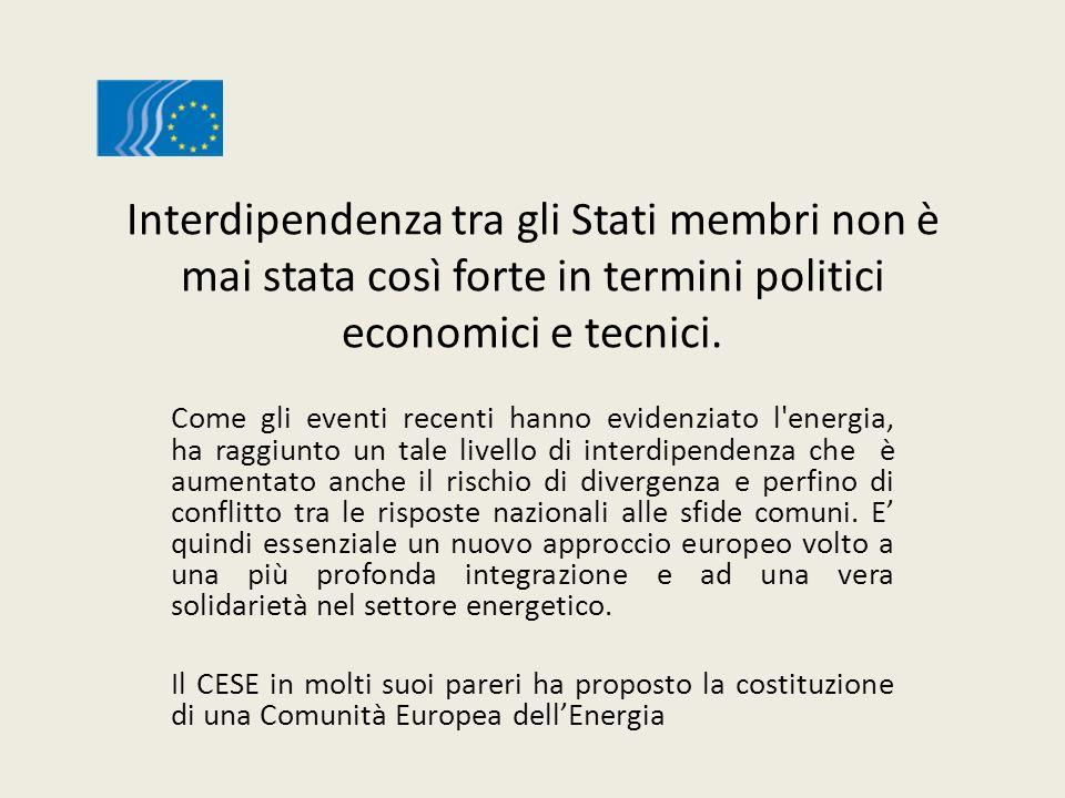 Interdipendenza tra gli Stati membri non è mai stata così forte in termini politici economici e tecnici.