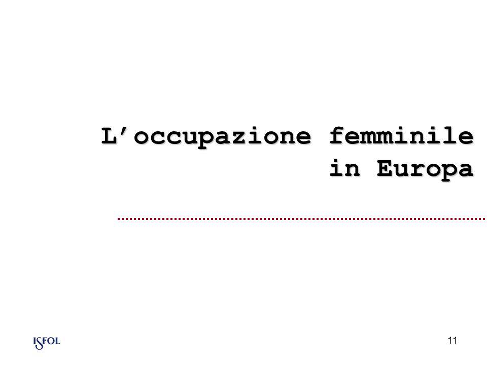 11 Loccupazione femminile in Europa