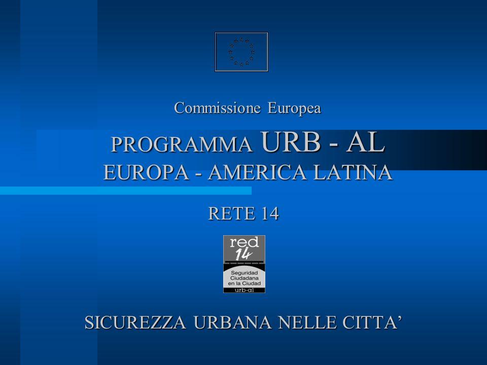 Commissione Europea PROGRAMMA URB - AL EUROPA - AMERICA LATINA RETE 14 SICUREZZA URBANA NELLE CITTA