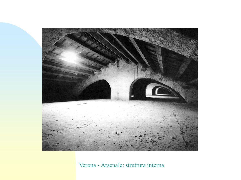 Verona - Arsenale: struttura interna