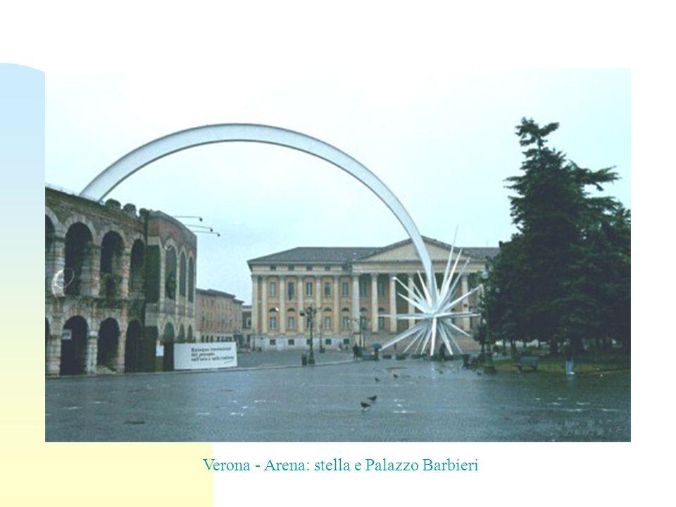 Verona - Arena: stella e Palazzo Barbieri