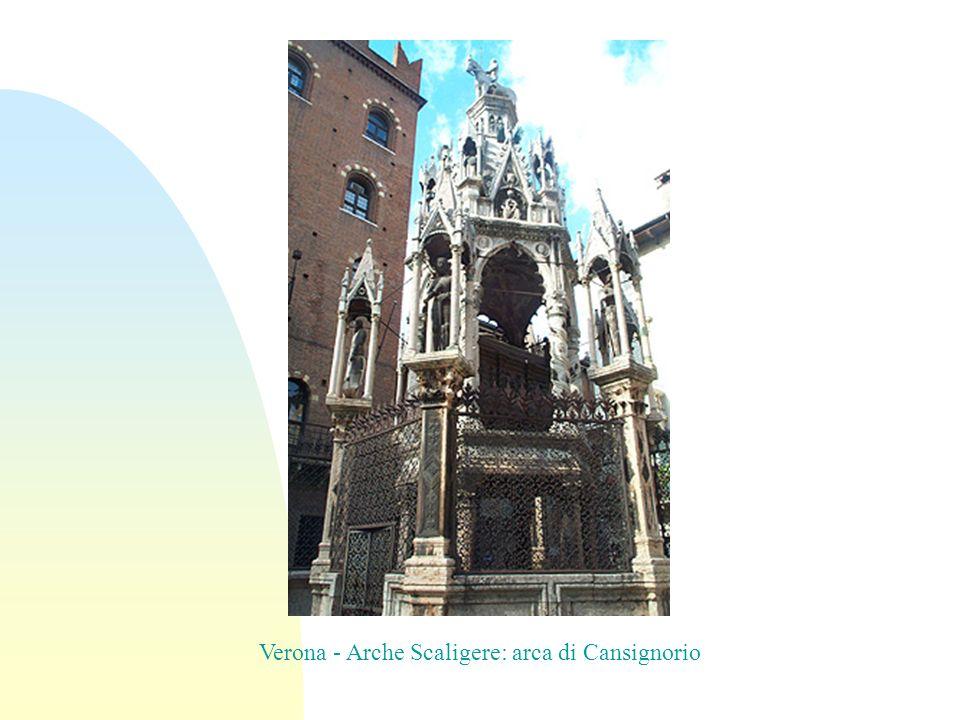 Verona - Arche Scaligere: arca di Cansignorio