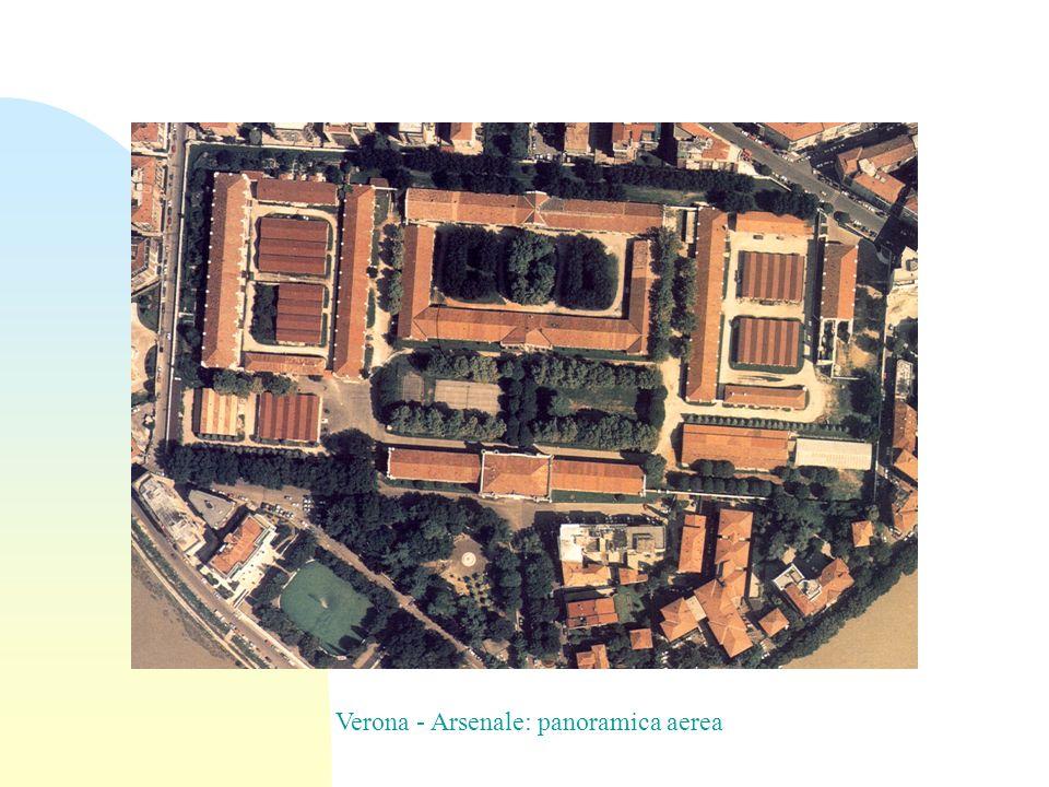 Verona - Arsenale: panoramica aerea