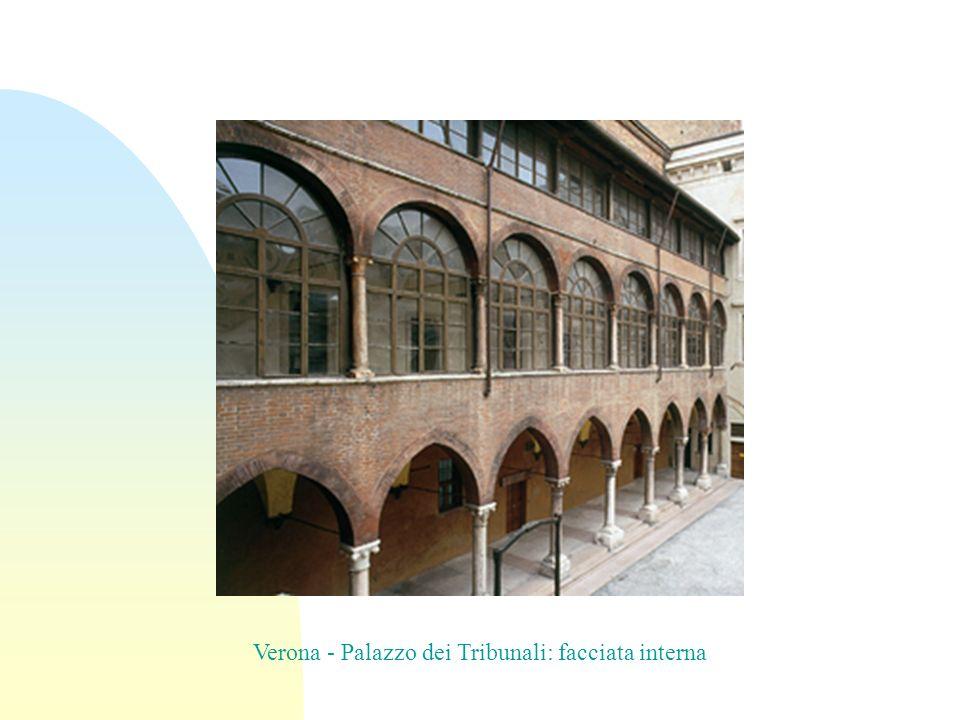 Verona - Palazzo dei Tribunali: facciata interna