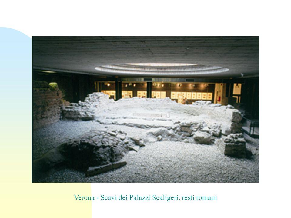 Verona - Scavi dei Palazzi Scaligeri: resti romani
