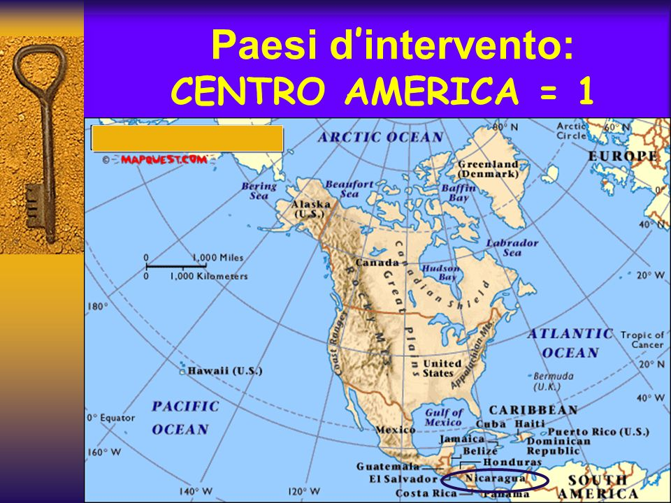 Paesi d intervento: CENTRO AMERICA = 1
