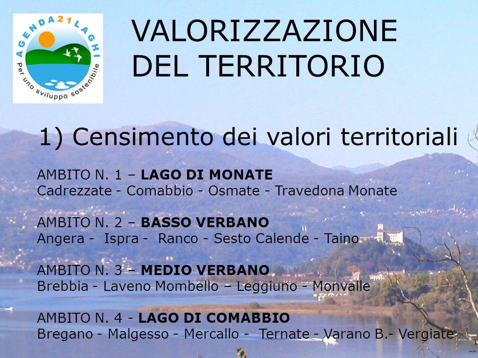 1) Censimento dei valori territoriali VALORIZZAZIONE DEL TERRITORIO AMBITO N. 1 – LAGO DI MONATE Cadrezzate - Comabbio - Osmate - Travedona Monate AMB