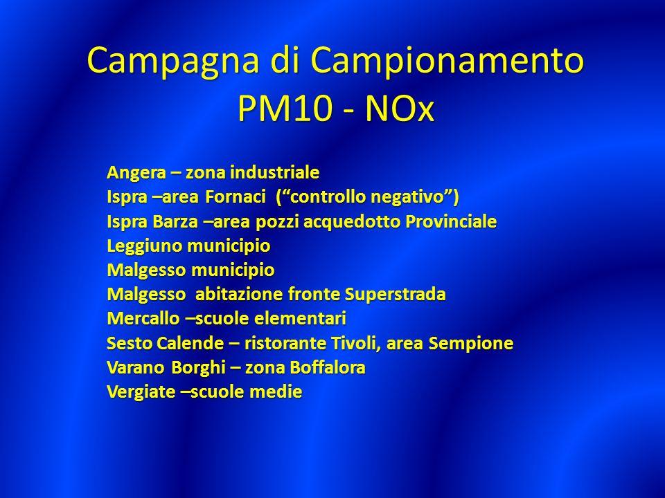 PM10: particolato dalle dimensioni uguali o inferiori a 10 micron ( 1 micron = 1/1000 di millimetro) Combustione in genere, traffico veicolare, combustione di biomassa.