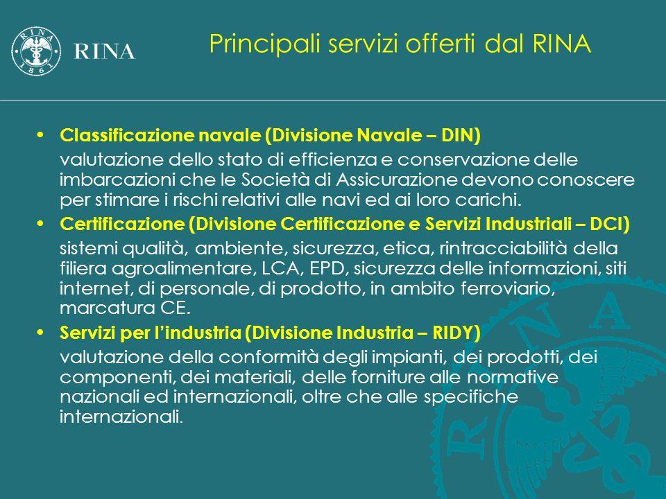 Classificazione navale (Divisione Navale – DIN) valutazione dello stato di efficienza e conservazione delle imbarcazioni che le Società di Assicurazio