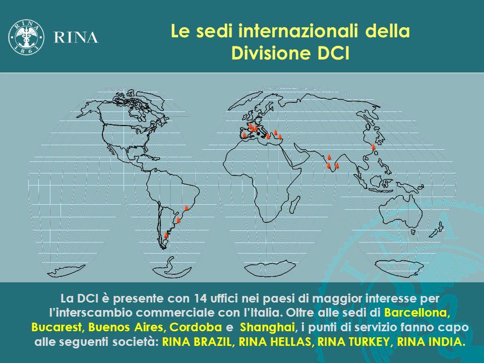 La DCI è presente con 14 uffici nei paesi di maggior interesse per linterscambio commerciale con lItalia. Oltre alle sedi di Barcellona, Bucarest, Bue