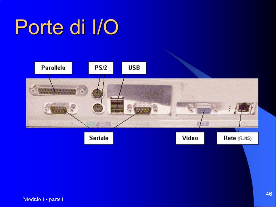 Modulo 1 - parte 1 46 Porte di I/O