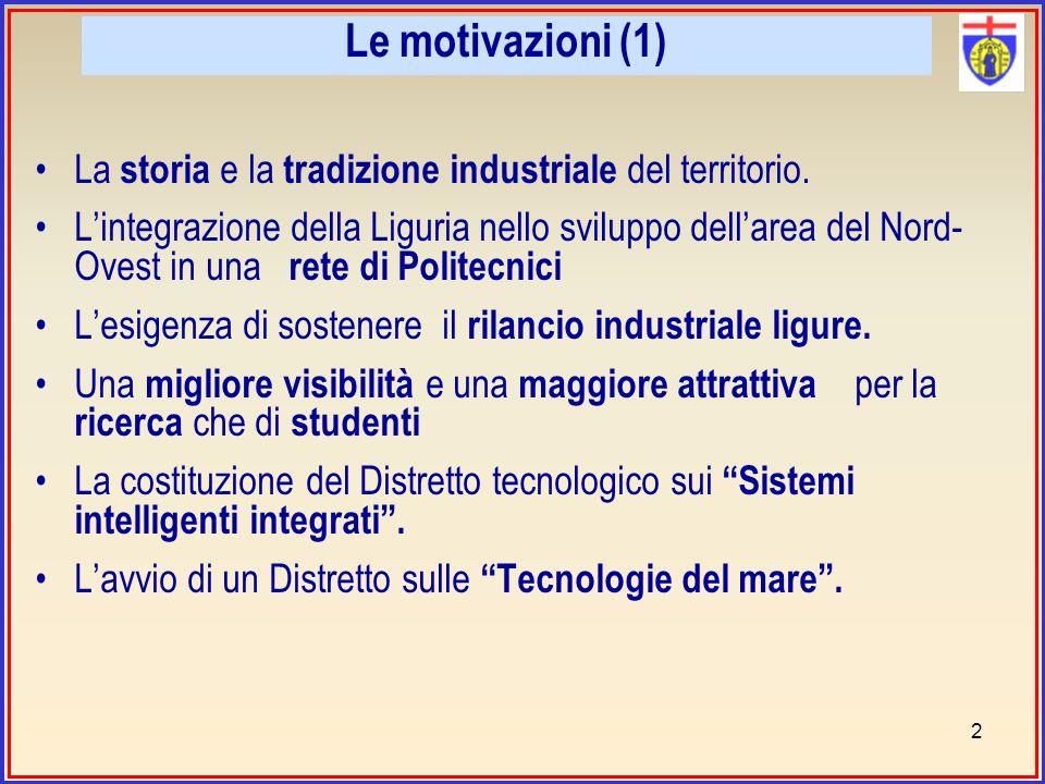 Le motivazioni (1) La storia e la tradizione industriale del territorio.