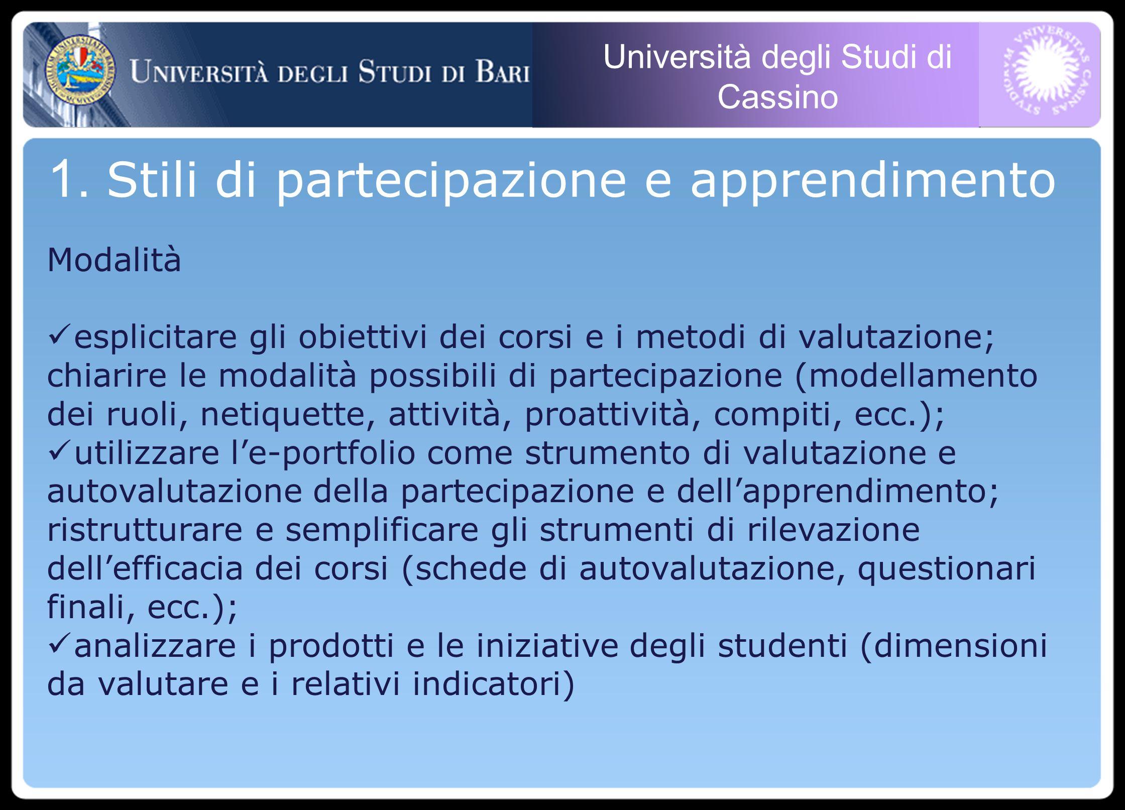 Università degli Studi di Cassino 1.