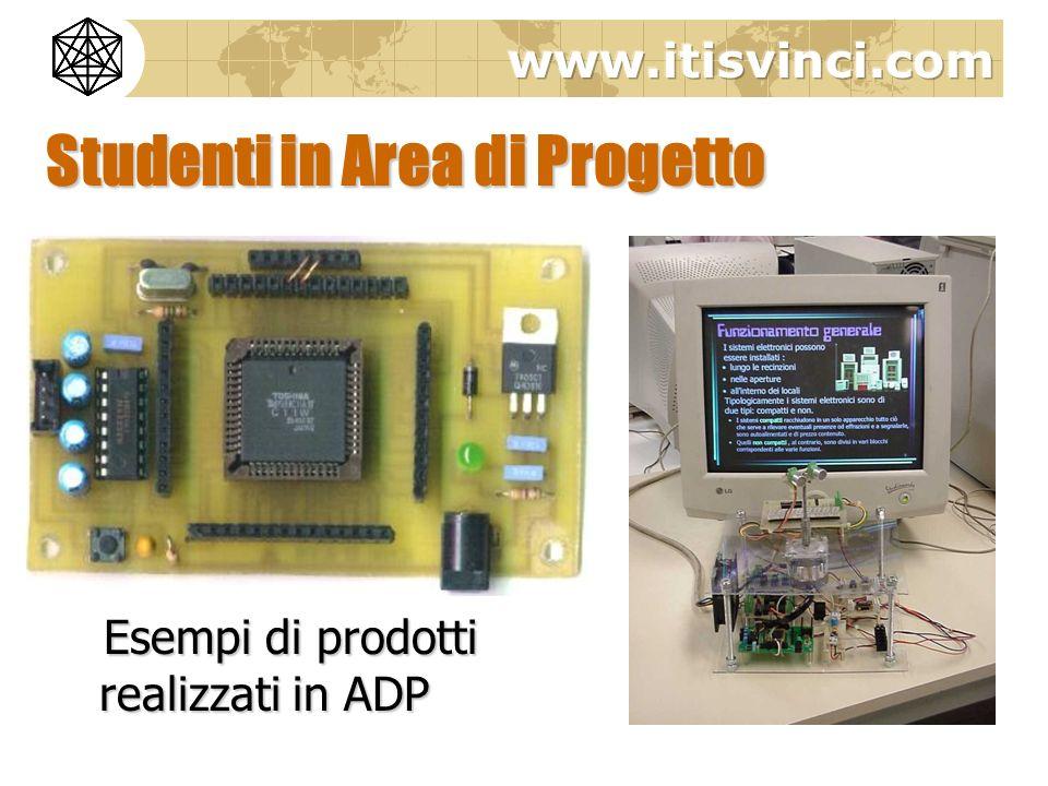Studenti in Area di Progetto Esempi di prodotti realizzati in ADP