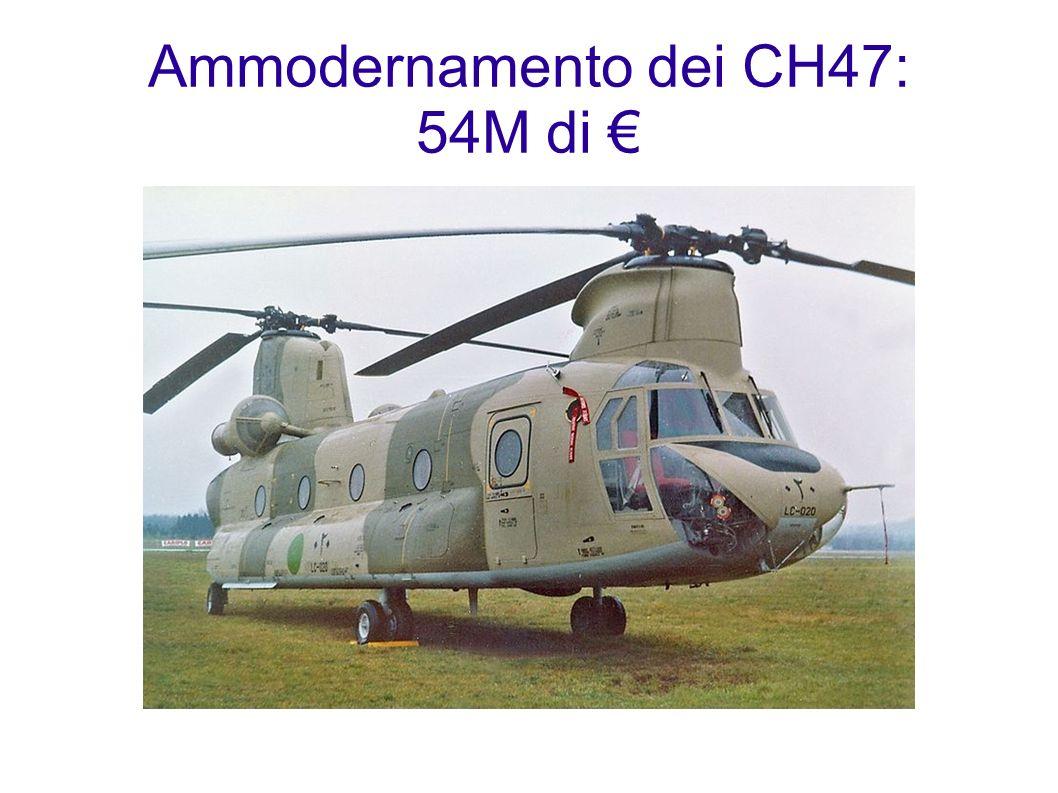 Ammodernamento dei CH47: 54M di