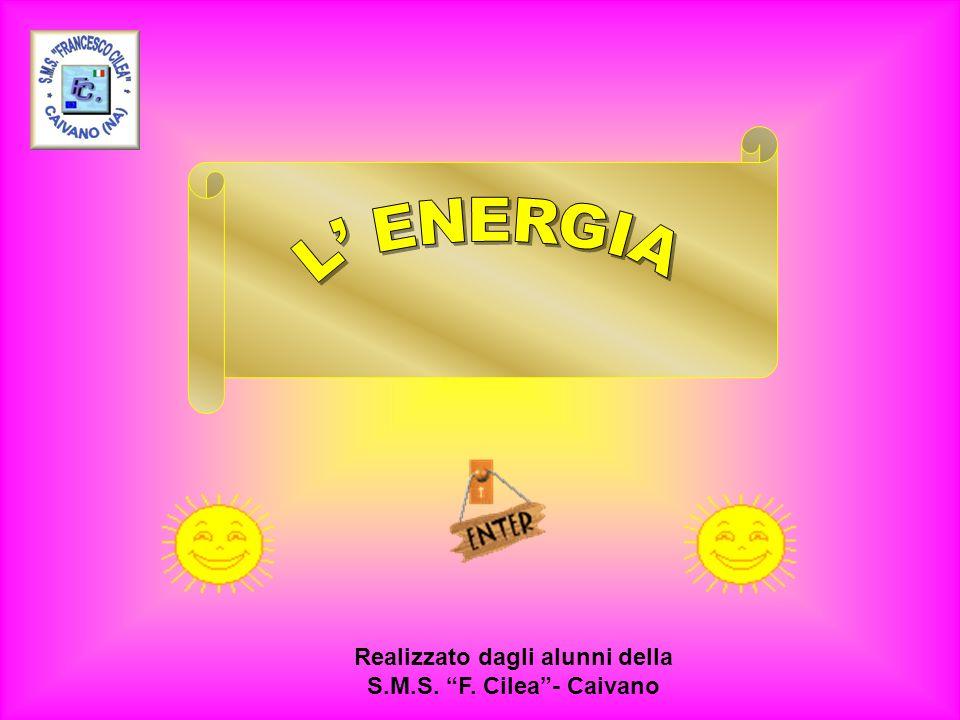Energia meccanica Energia muscolare Permette il movimento di una macchina.