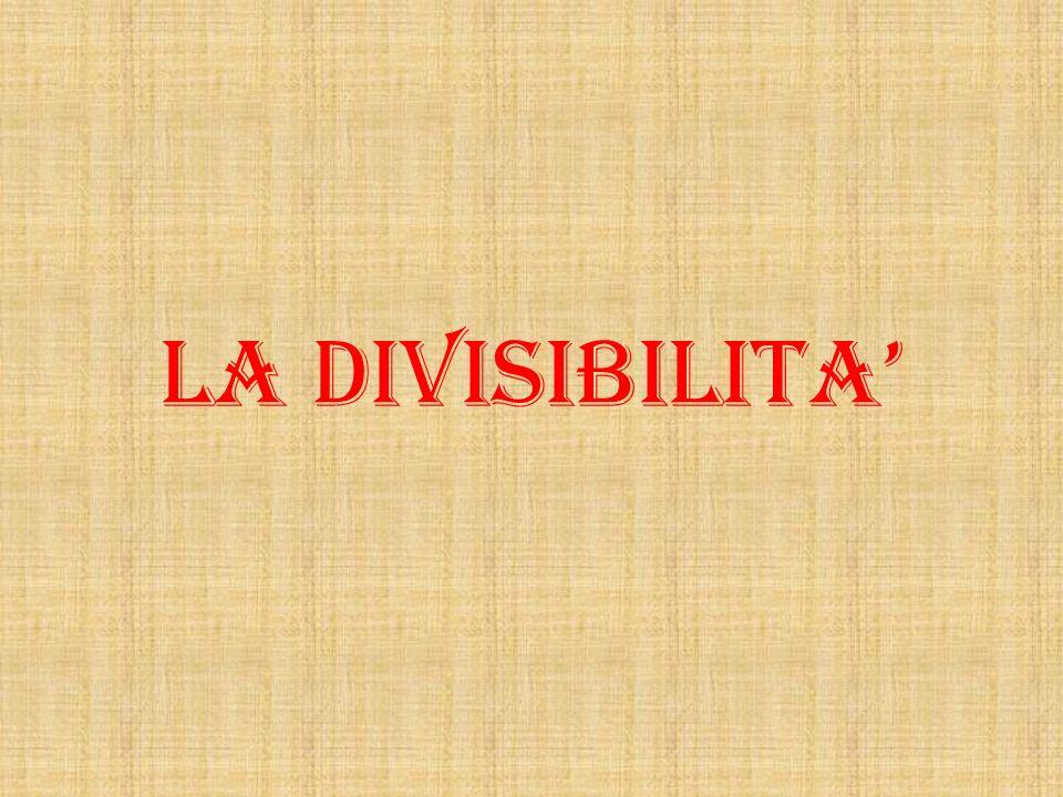 LA DIVISIBILITA
