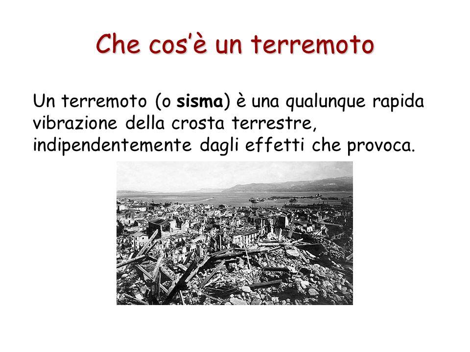 Un terremoto (o sisma) è una qualunque rapida vibrazione della crosta terrestre, indipendentemente dagli effetti che provoca. Che cosè un terremoto