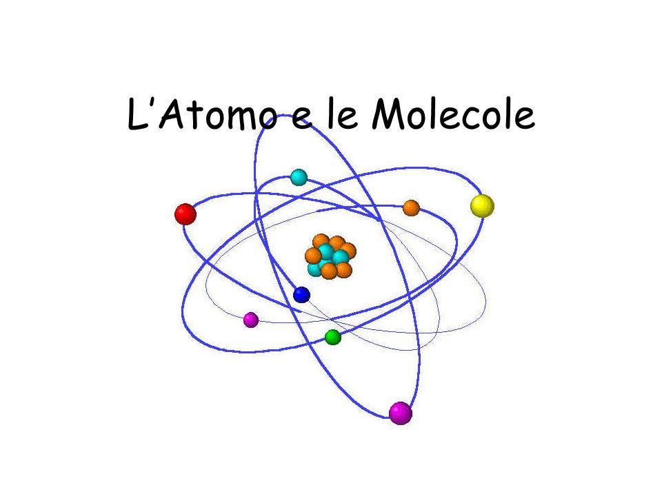 LAtomo e le Molecole