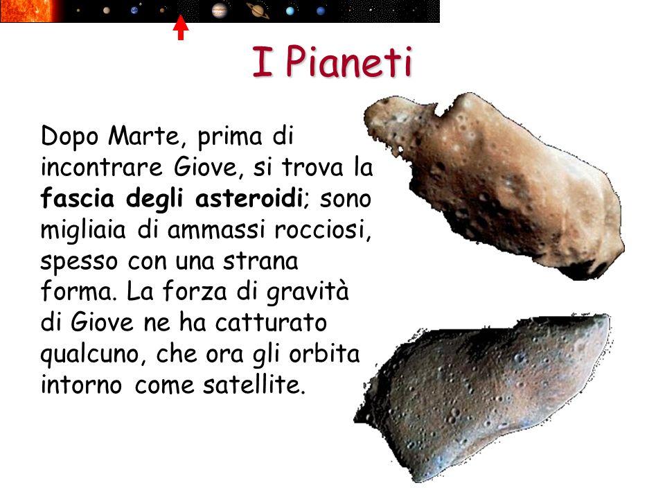 I Pianeti Dopo Marte, prima di incontrare Giove, si trova la fascia degli asteroidi; sono migliaia di ammassi rocciosi, spesso con una strana forma. L
