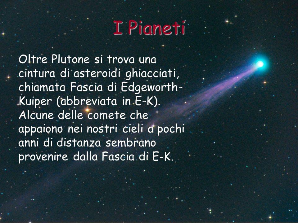I Pianeti Oltre Plutone si trova una cintura di asteroidi ghiacciati, chiamata Fascia di Edgeworth- Kuiper (abbreviata in E-K). Alcune delle comete ch