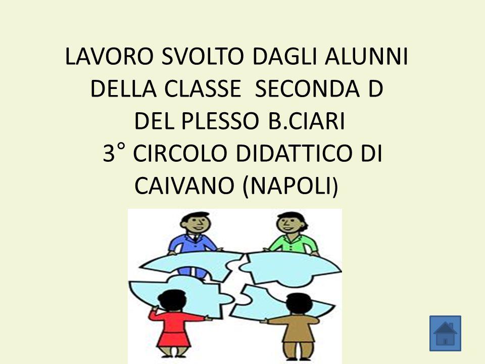 LAVORO SVOLTO DAGLI ALUNNI DELLA CLASSE SECONDA D DEL PLESSO B.CIARI 3° CIRCOLO DIDATTICO DI CAIVANO (NAPOLI )