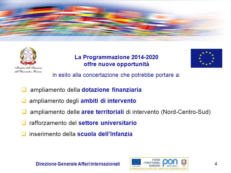Programmazione 2014-2020: nuove opportunità… …ma anche nuovi vincoli e criticità.