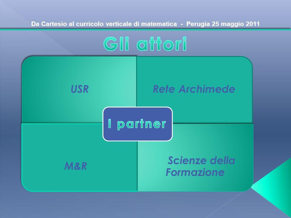 Da Cartesio al curricolo verticale di matematica - Perugia 25 maggio 2011 USRRete Archimede M&R Scienze della Formazione