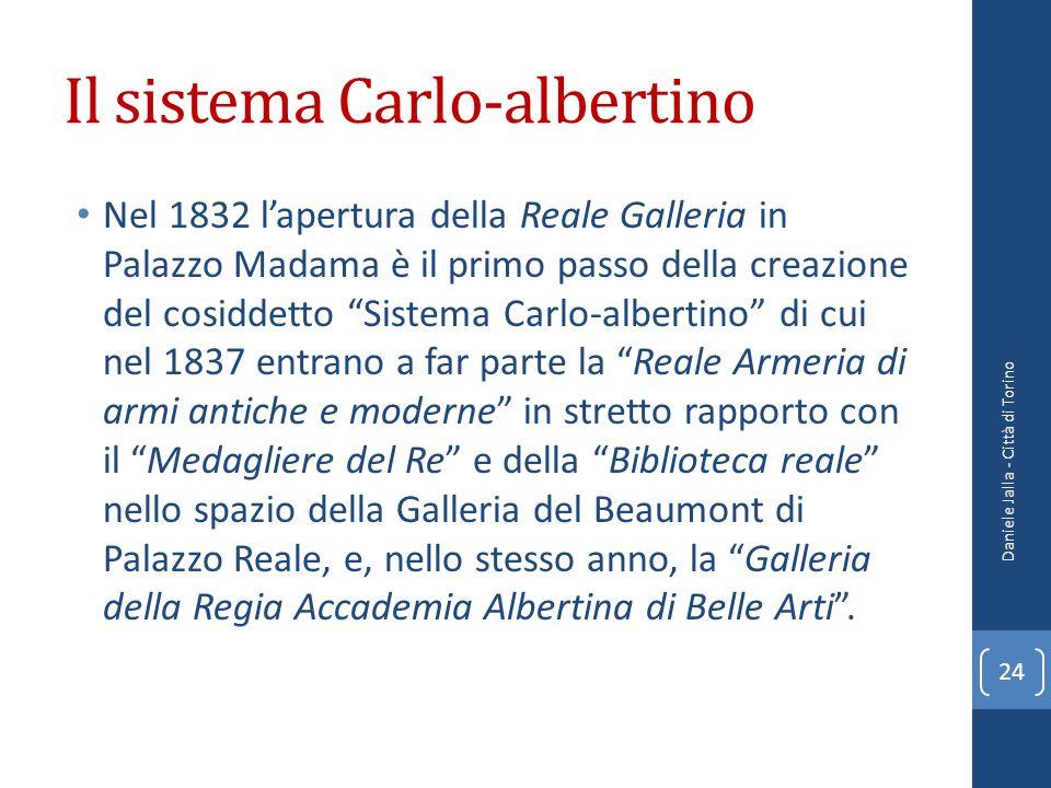 Il sistema Carlo-albertino Nel 1832 lapertura della Reale Galleria in Palazzo Madama è il primo passo della creazione del cosiddetto Sistema Carlo-alb