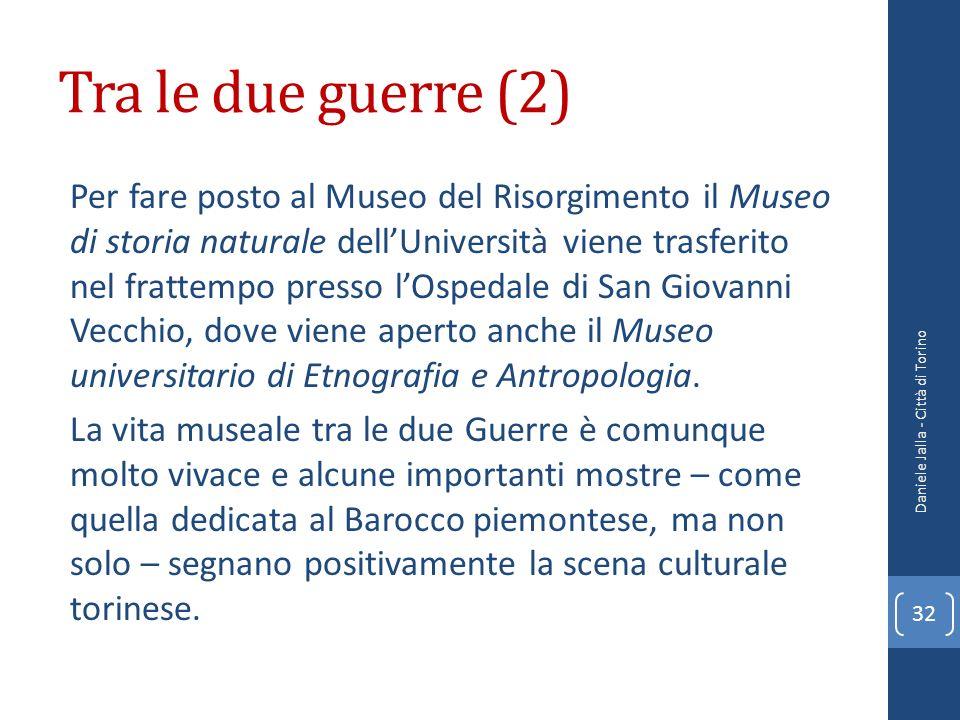 Tra le due guerre (2) Per fare posto al Museo del Risorgimento il Museo di storia naturale dellUniversità viene trasferito nel frattempo presso lOsped