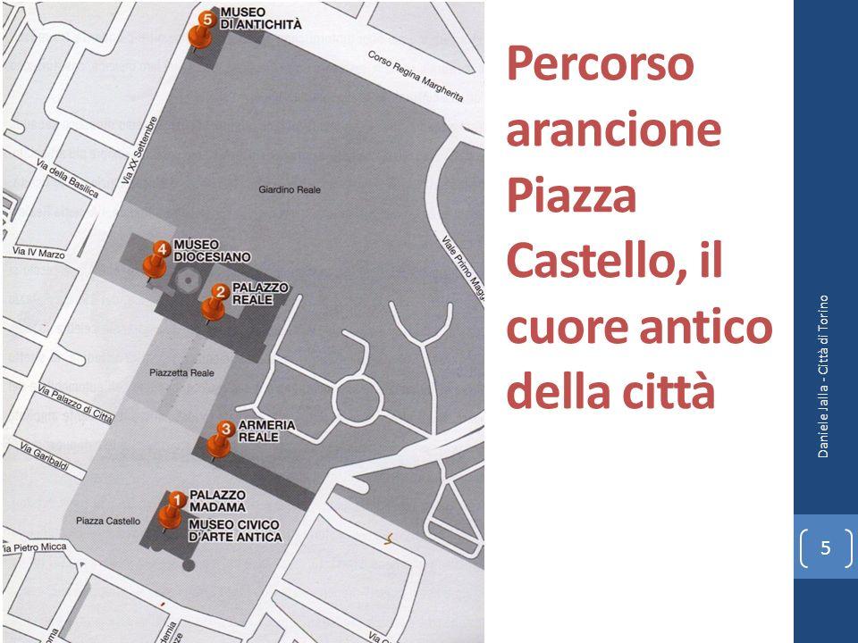 Percorso arancione Piazza Castello, il cuore antico della città Daniele Jalla - Città di Torino 5