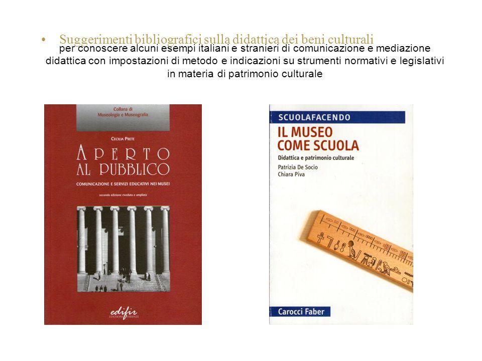 per conoscere alcuni esempi italiani e stranieri di comunicazione e mediazione didattica con impostazioni di metodo e indicazioni su strumenti normati