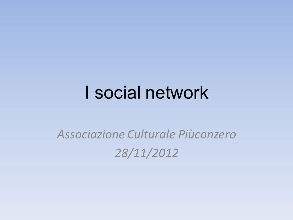 I social network Associazione Culturale Piùconzero 28/11/2012