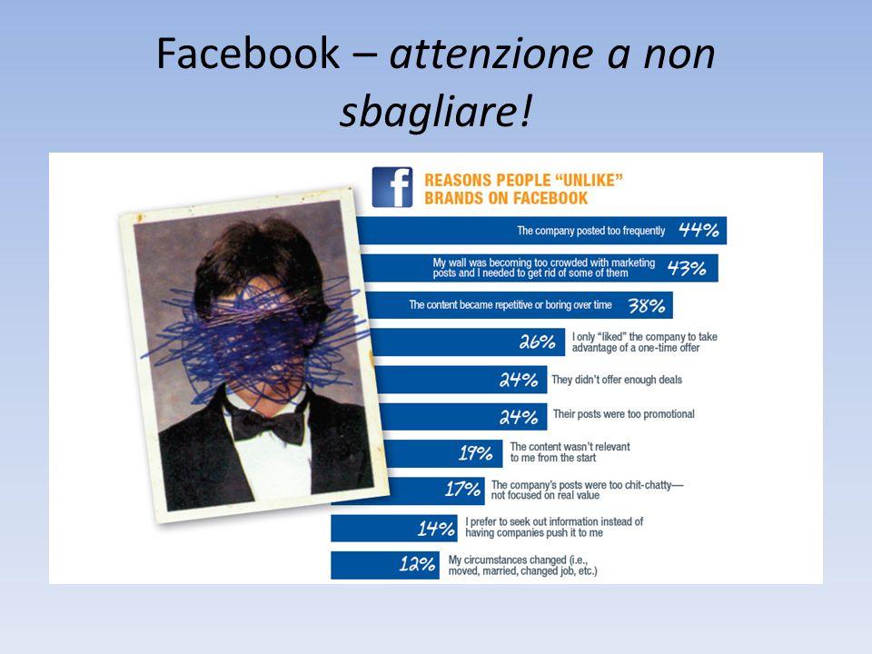 Facebook – attenzione a non sbagliare!