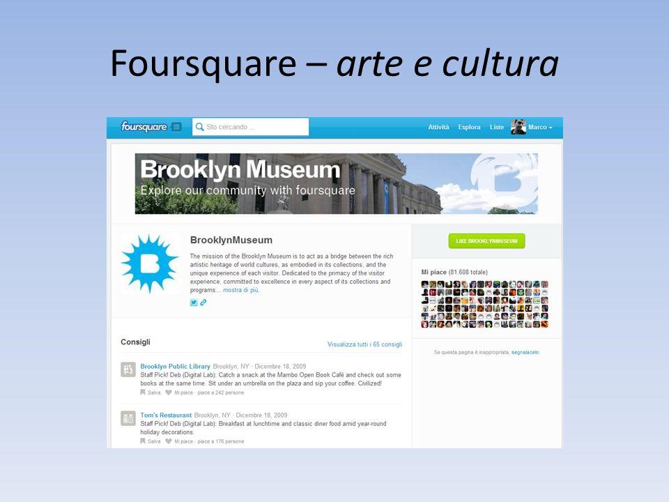 Foursquare – arte e cultura