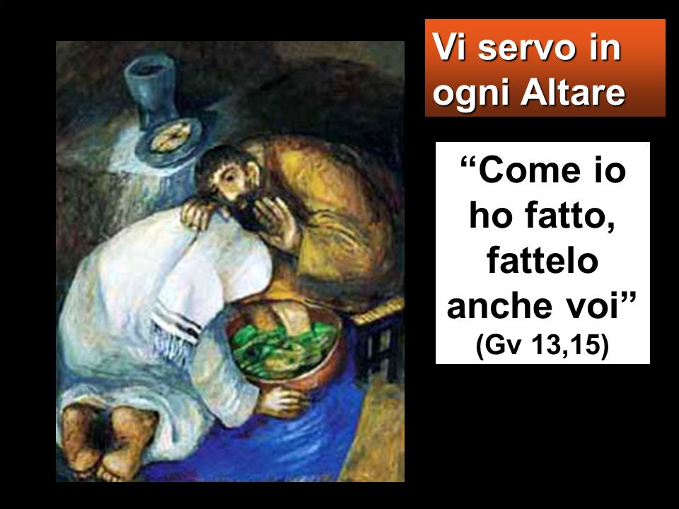Anche il Figlio delluomo infatti non è venuto per farsi servire, ma per servire e dare la propria vita in riscatto per molti».