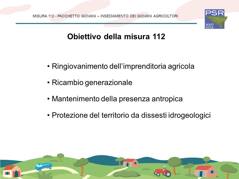 MISURA 112 - PACCHETTO GIOVANI – INSEDIAMENTO DEI GIOVANI AGRICOLTORI Massimali di spesa Limporto massimo degli investimenti ammessi a finanziamento per ciascuna impresa agricola nellambito del Pacchetto non potrà eccedere i 500.000 euro