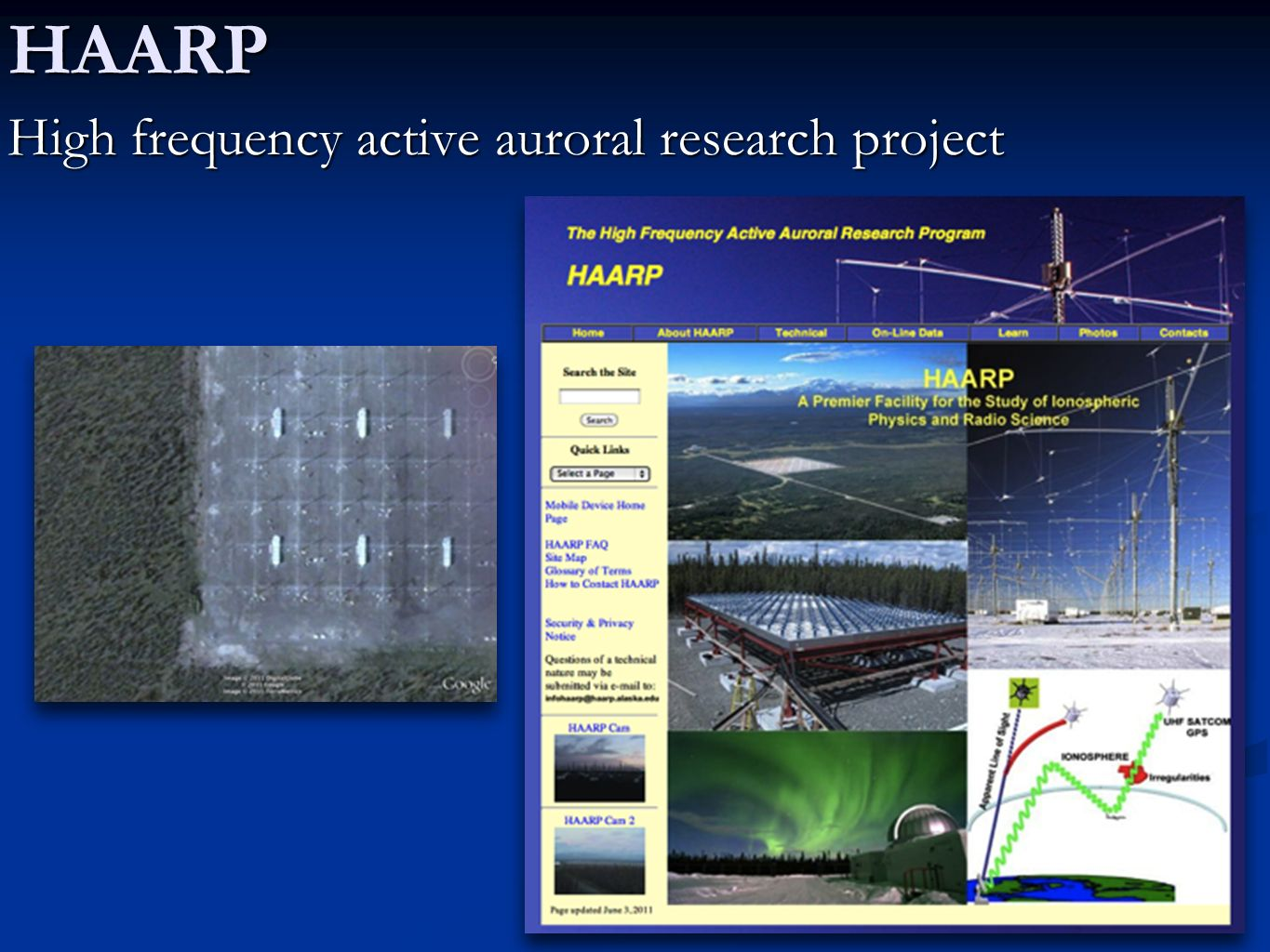 HAARP High frequency active auroral research project