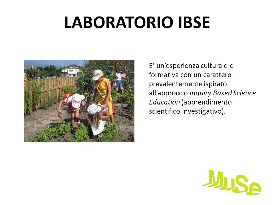 LABORATORIO IBSE E unesperienza culturale e formativa con un carattere prevalentemente ispirato allapproccio Inquiry Based Science Education (apprendi