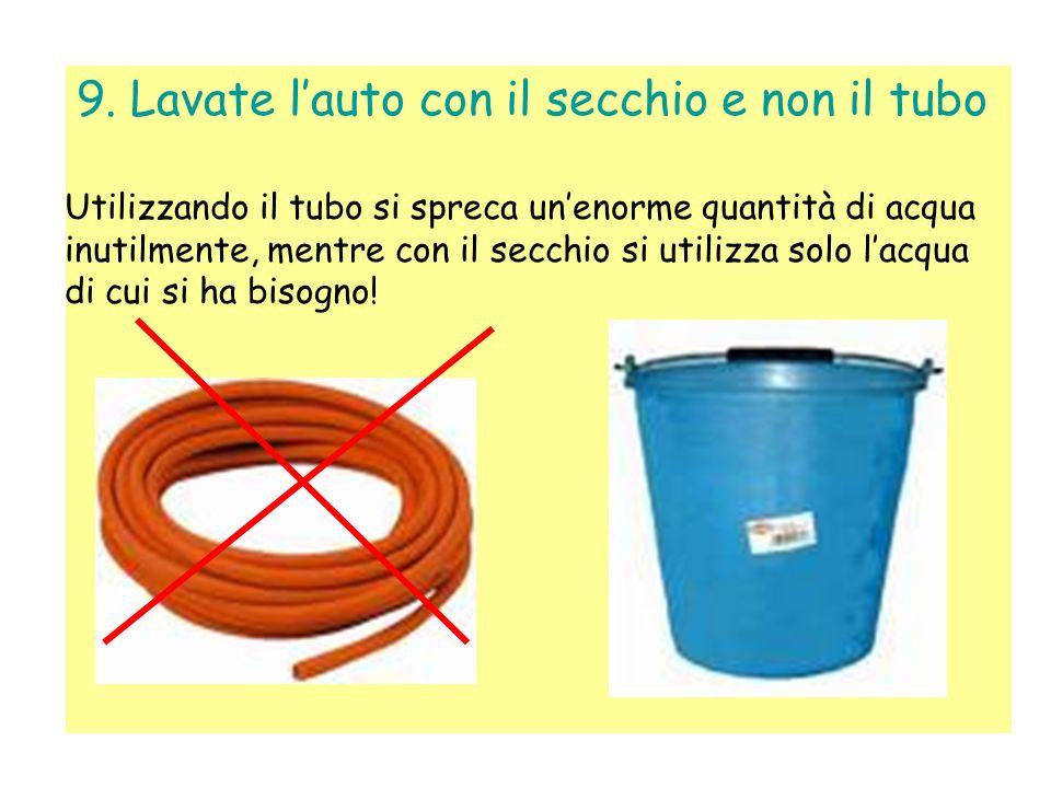 8. … con quell acqua innaffiate le piante Così vengono anche leggermente concimate, grazie agli eventuali residui lasciati durante il lavaggio. Inoltr
