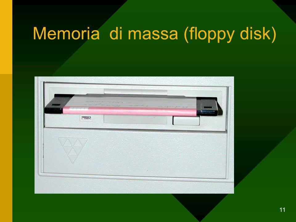 11 Memoria di massa (floppy disk)