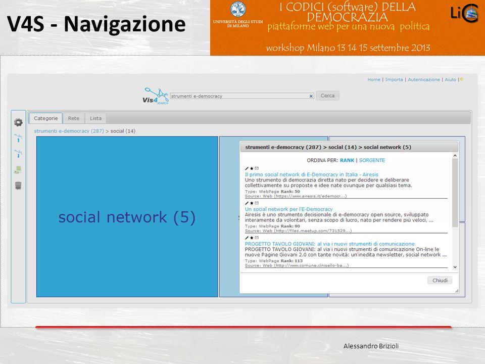 Carlo Crespellani Porcella Progetto POR 2000-2006 : Progettazione ambientale V4S - Navigazione Alessandro Brizioli